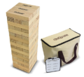 GoSports Life Size Jenga with Bonus Rules