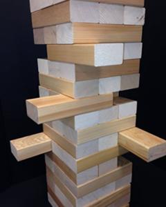 Madwood's Jumbo Wood Stacking Game with Clear Hemlock Blocks