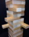 Madwood's Jumbo Wood Stacking Game with Clear Hemlock Blocks